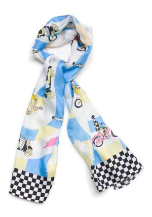 Silk scarf The Race We Made Shawls Dutch Design Ingrid Bockting