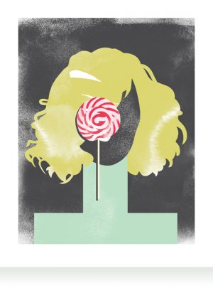 Lollipop artprint LeendertmeetsIngrid Ingrid Bockting