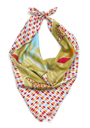 Silk scarf Miss Sherlock We Made Shawls Dutch Design Ingrid Bockting