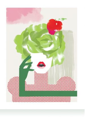 Salad Head artprint LeendertmeetsIngrid Ingrid Bockting DoctorsInc